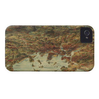 Vintage Pictorial Map of Boston (1905) iPhone 4 Case