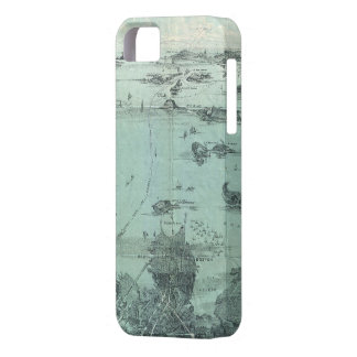 Vintage Pictorial Map of Boston Harbor (1897) iPhone 5 Covers