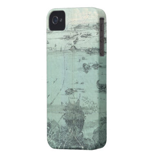 Vintage Pictorial Map of Boston Harbor (1897) iPhone 4 Case