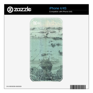 Vintage Pictorial Map of Boston Harbor 1897 Skins For iPhone 4S