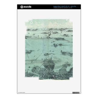 Vintage Pictorial Map of Boston Harbor (1897) Skins For iPad 3