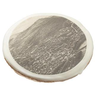 Vintage Pictorial Map of Brattleboro VT (1886) Sugar Cookie