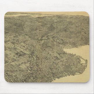 Vintage Pictorial Map of Brooklyn NY (1897) Mousepads