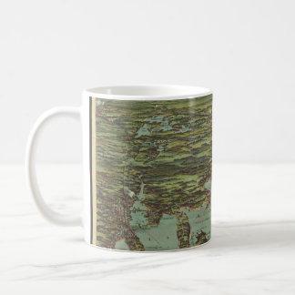 Vintage Pictorial Map of Buzzards Bay (1907) Coffee Mug