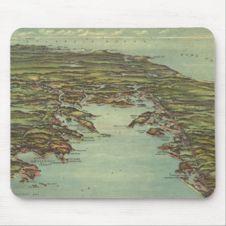 Vintage Pictorial Map of Buzzards Bay (1907) Mouse Pad
