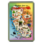 Vintage Pictorial Map of California Rectangular Magnets