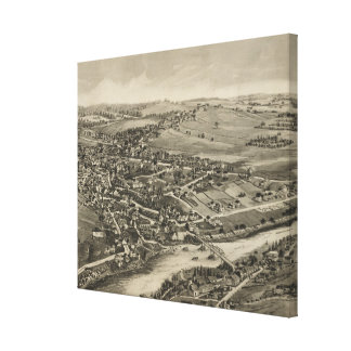 Vintage Pictorial Map of Caribou Maine (1893) Canvas Print