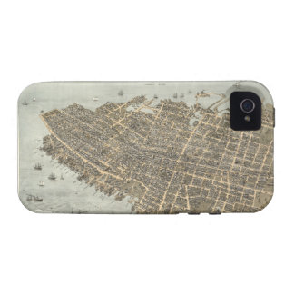 Vintage Pictorial Map of Charleston (1872) iPhone 4 Cases