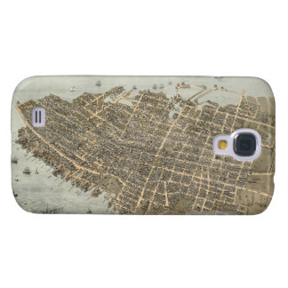 Vintage Pictorial Map of Charleston (1872) Samsung Galaxy S4 Cases