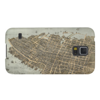 Vintage Pictorial Map of Charleston (1872) Cases For Galaxy S5