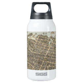 Vintage Pictorial Map of Charleston (1872) Insulated Water Bottle