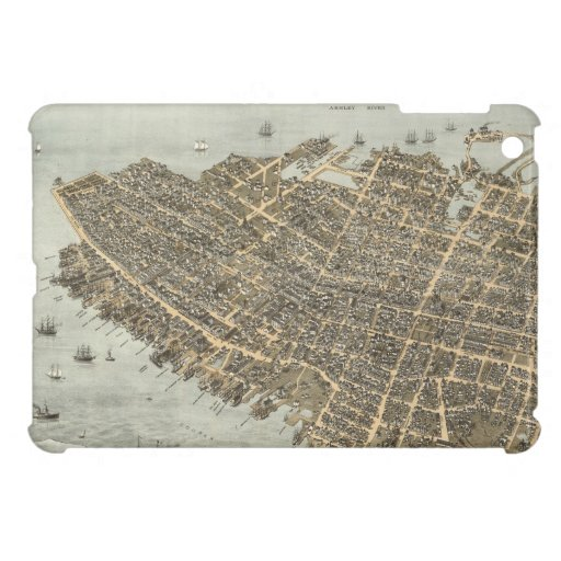 Vintage Pictorial Map of Charleston (1872) iPad Mini Cases