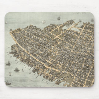 Vintage Pictorial Map of Charleston (1872) Mouse Pad