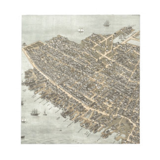 Vintage Pictorial Map of Charleston (1872) Note Pads