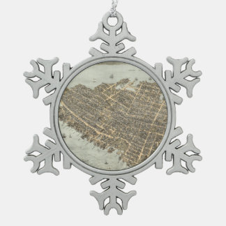 Vintage Pictorial Map of Charleston (1872) Ornament
