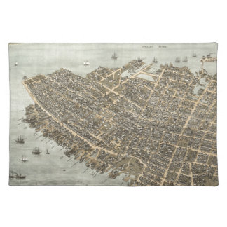Vintage Pictorial Map of Charleston (1872) Placemat