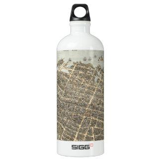 Vintage Pictorial Map of Charleston (1872) SIGG Traveler 1.0L Water Bottle