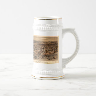 Vintage Pictorial Map of Chicago (1871)(2) Beer Stein