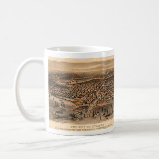 Vintage Pictorial Map of Chicago (1871)(2) Coffee Mug