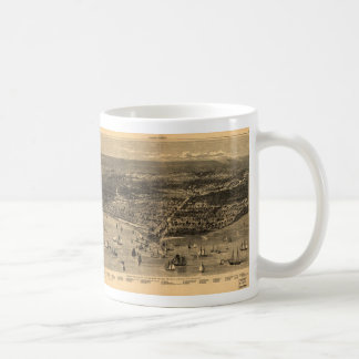 Vintage Pictorial Map of Chicago (1871) Coffee Mug