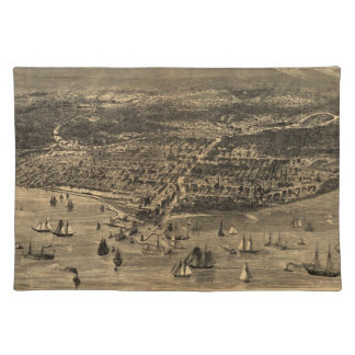 Vintage Pictorial Map of Chicago (1871) Placemat