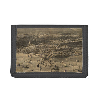 Vintage Pictorial Map of Chicago (1871) Trifold Wallet