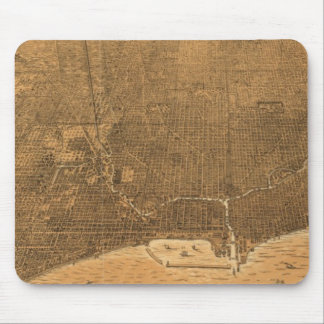 Vintage Pictorial Map of Chicago (1892) Mouse Pad