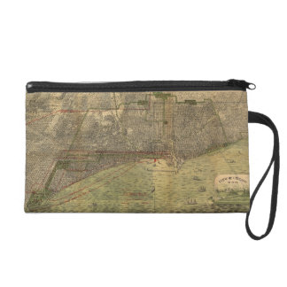 Vintage Pictorial Map of Chicago (1892) Wristlet