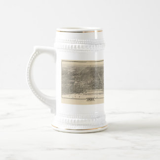 Vintage Pictorial Map of Chicago (1916) Beer Stein