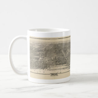 Vintage Pictorial Map of Chicago (1916) Coffee Mug