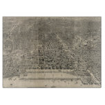 Vintage Pictorial Map of Chicago (1916) Cutting Boards
