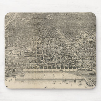 Vintage Pictorial Map of Chicago (1916) Mouse Pad