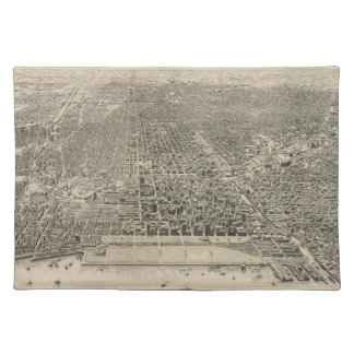 Vintage Pictorial Map of Chicago (1916) Placemat