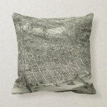 Vintage Pictorial Map of Cincinnati (1900) Pillow