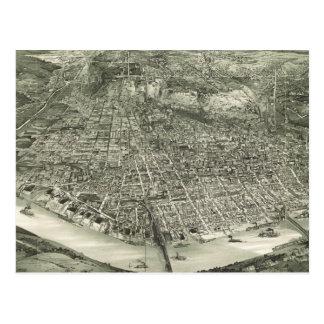 Vintage Pictorial Map of Cincinnati (1900) Postcards