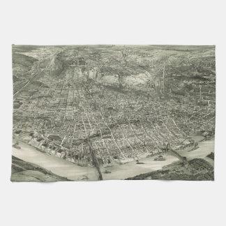 Vintage Pictorial Map of Cincinnati (1900) Towel