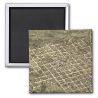 Vintage Pictorial Map of Columbia SC (1872) 2 Inch Square Magnet