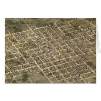 Vintage Pictorial Map of Columbia SC (1872) Greeting Card