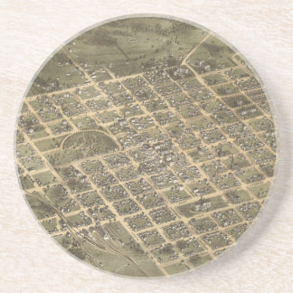 Vintage Pictorial Map of Columbia SC 1872 Coasters