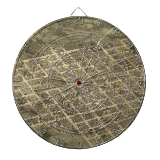 Vintage Pictorial Map of Columbia SC 1872 Dart Boards