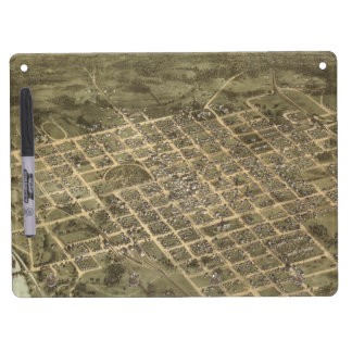 Vintage Pictorial Map of Columbia SC 1872 Dry-Erase Board