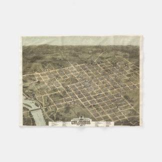 Vintage Pictorial Map of Columbia SC (1872) Fleece Blanket