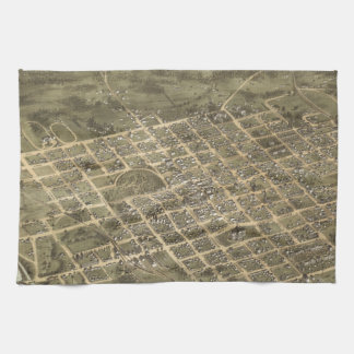 Vintage Pictorial Map of Columbia SC (1872) Kitchen Towel