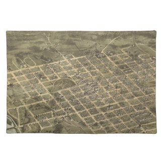 Vintage Pictorial Map of Columbia SC 1872 Placemats