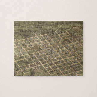Vintage Pictorial Map of Columbia SC (1872) Jigsaw Puzzle