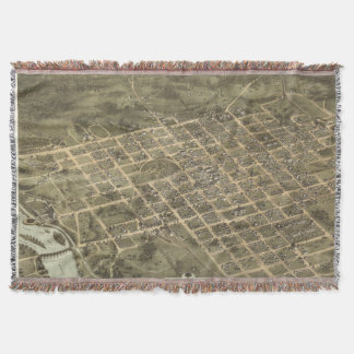 Vintage Pictorial Map of Columbia SC 1872 Throw Blanket