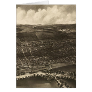 Vintage Pictorial Map of Concord NH (1899) Greeting Card