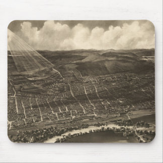 Vintage Pictorial Map of Concord NH (1899) Mouse Pad