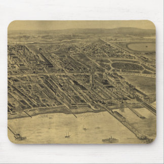 Vintage Pictorial Map of Coney Island (1906) Mouse Pad