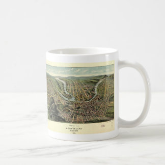 Vintage Pictorial Map of Cumberland MD (1906) Coffee Mug